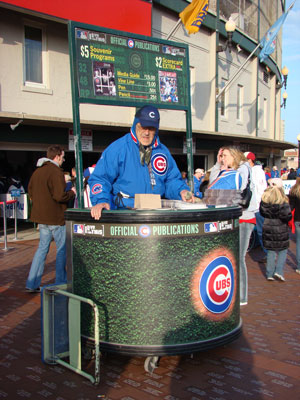 Wrigley Field vendor
